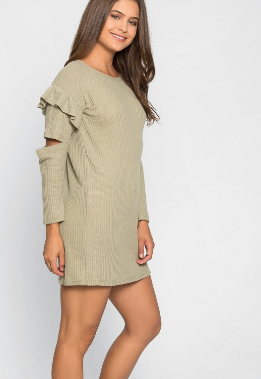 Milkshake Knit Dress in Sage alternate img #5