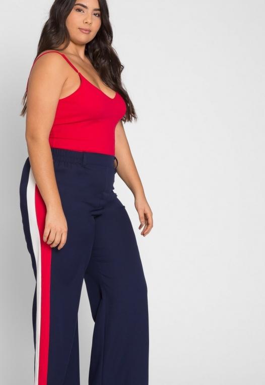 Plus Size Essentials Bodysuit in Red alternate img #5