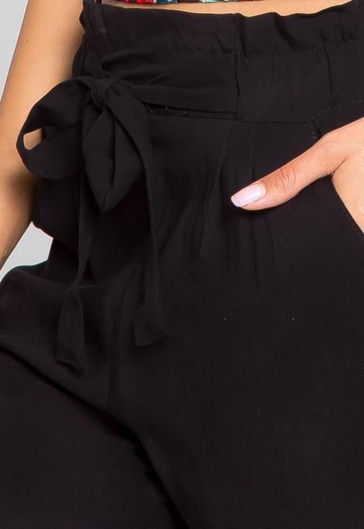 Joy High Waist Rayon Pants in Black alternate img #6
