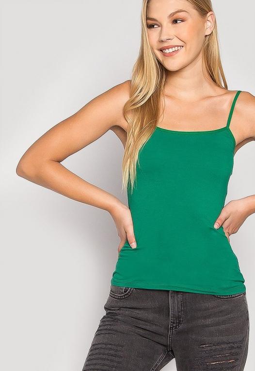 California Basic Cami Top in Green alternate img #5