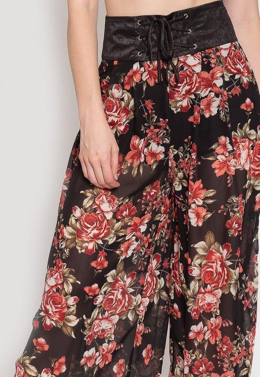 Samba Semi Sheer Flower Pants alternate img #7