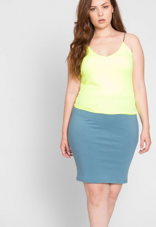 Plus Size Costa Neon Cami Top in Lime alternate img #5