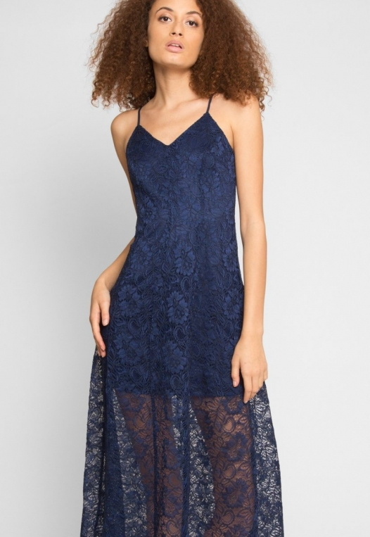 Manhattan Lace Maxi Dress in Navy alternate img #5