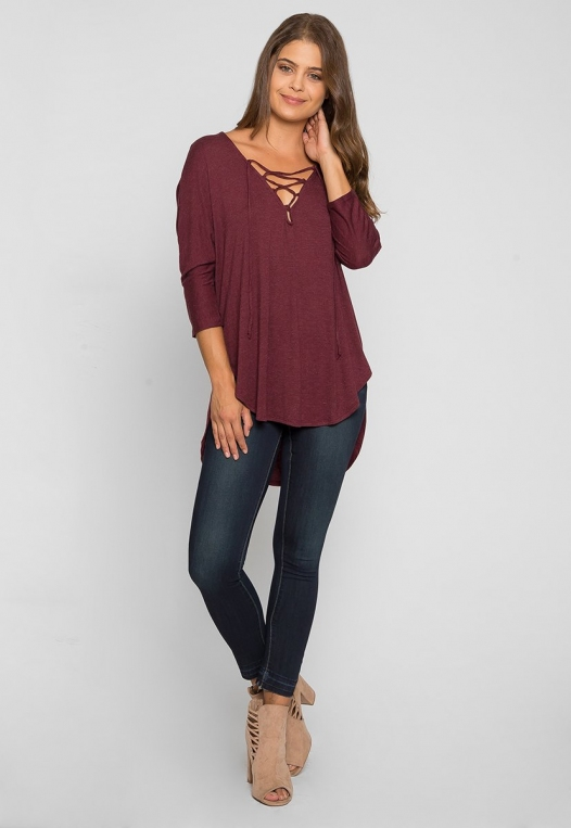 Wake Up Knit Top in Burgundy alternate img #4