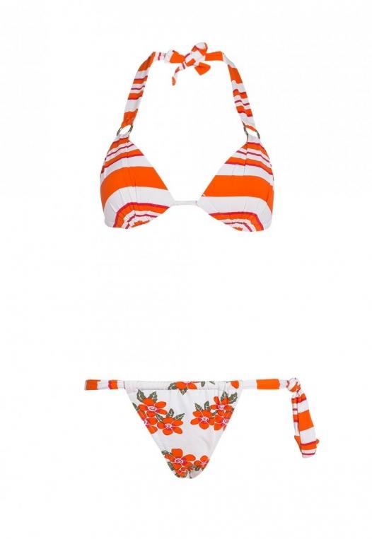 Babe Mix Stripe Floral Bikini alternate img #8