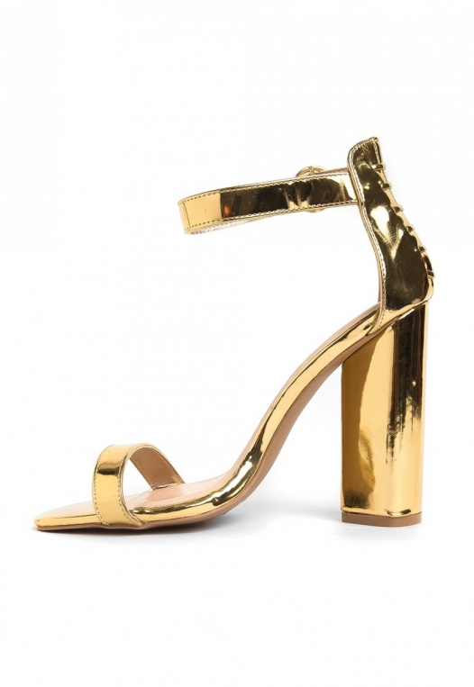 The Vault Metallic Ankle Strap Heels alternate img #3