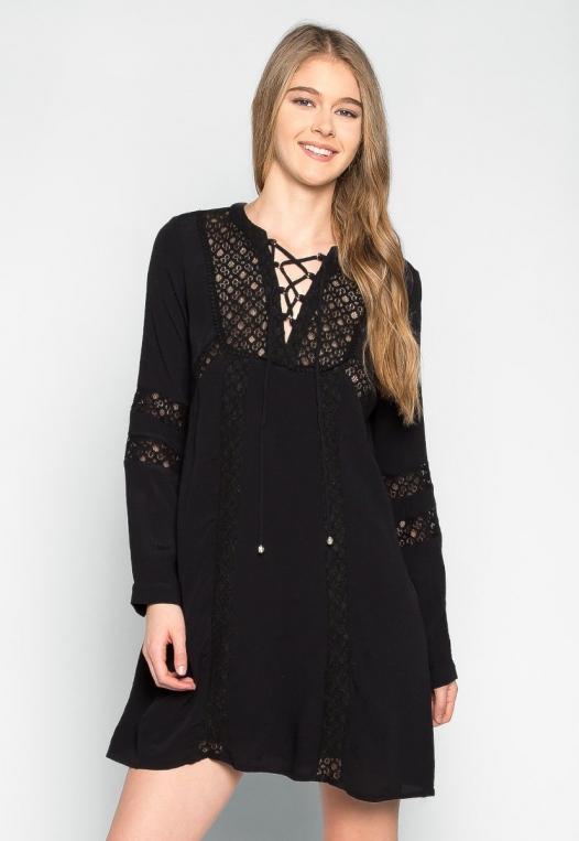 Riverside Lace Inserts Tunic Dress alternate img #1
