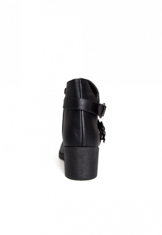 Tavern Buckle Ankle Boots in Black alternate img #2