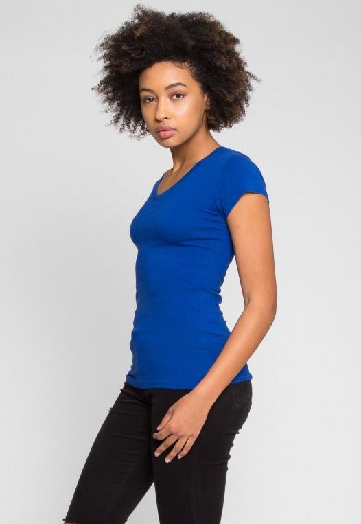 Venus V-Neck Tee in Blue alternate img #3