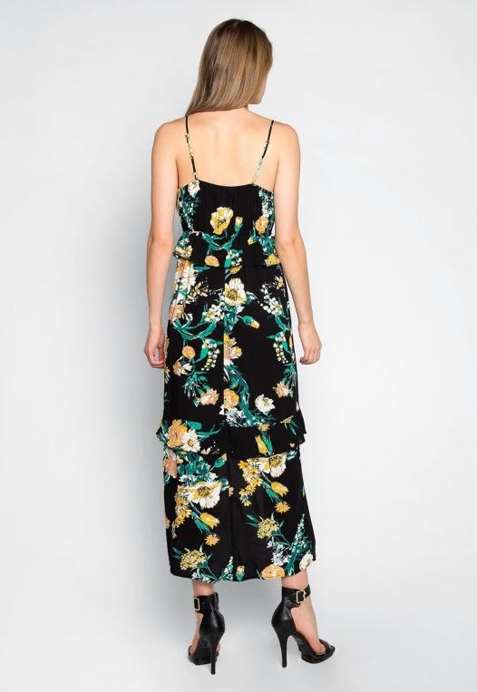 In Bloom Ruffle Waist Floral Dress alternate img #2