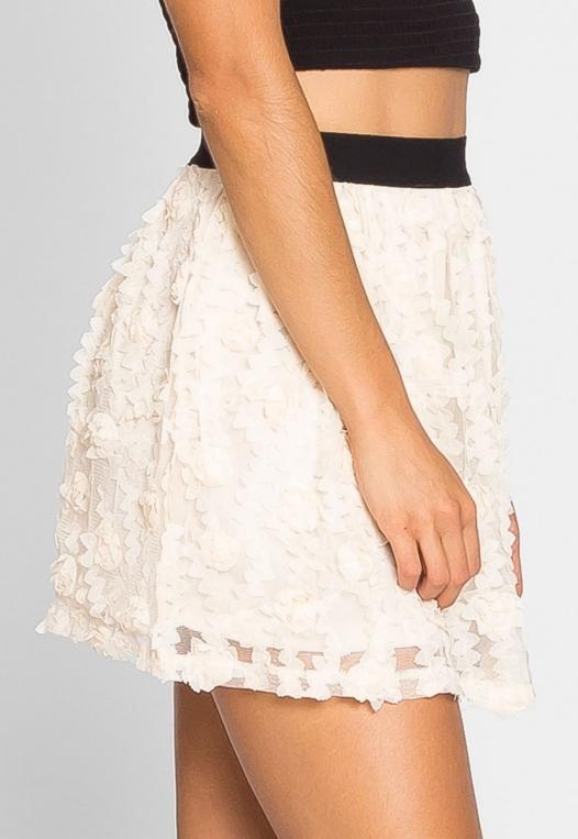 Clover Textured Mini Skirt alternate img #5