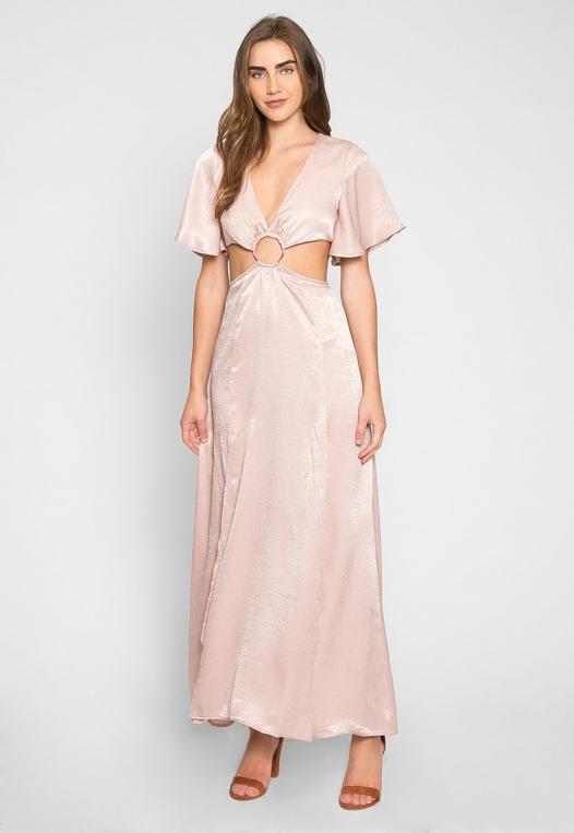 Festive Zip Back Cut Out Dress alternate img #4
