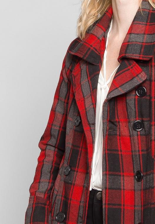 Autumn Belted Plaid Coat alternate img #6
