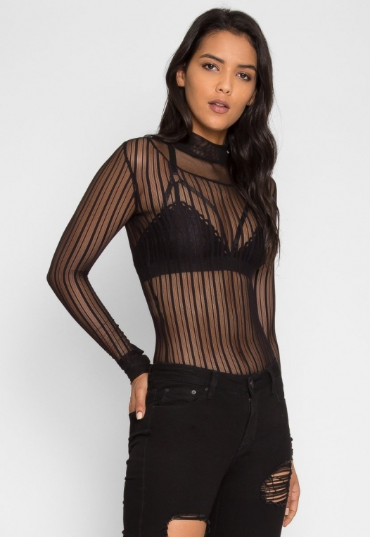 Carrie Mock Neck Bodysuit alternate img #1