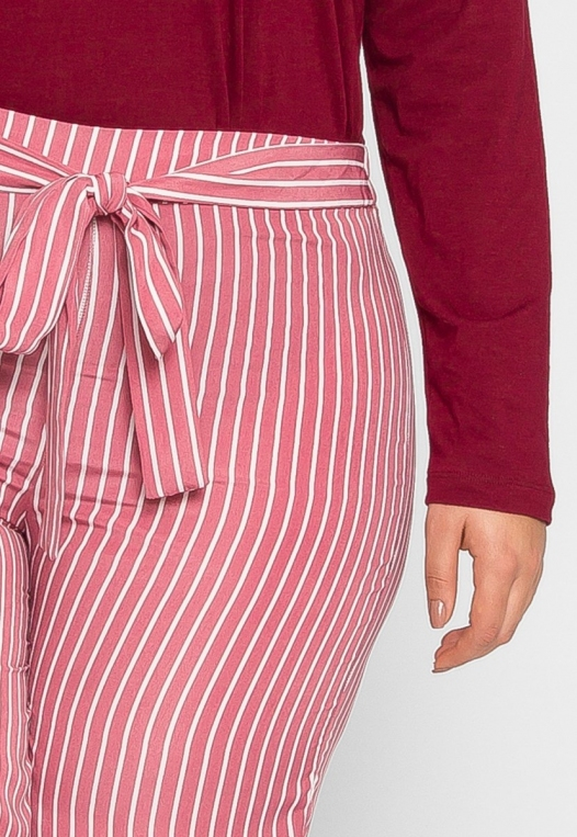 Plus Size Quest Stripe Palazzo Pants in Pink alternate img #6