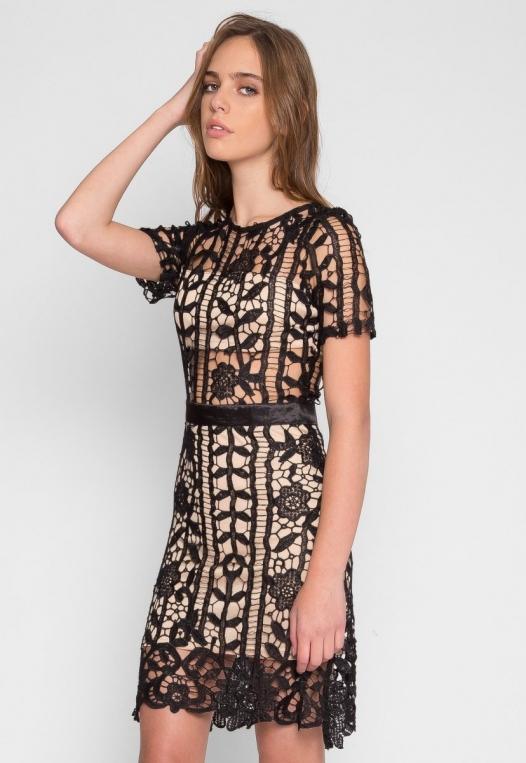See Through Crochet Dress alternate img #3