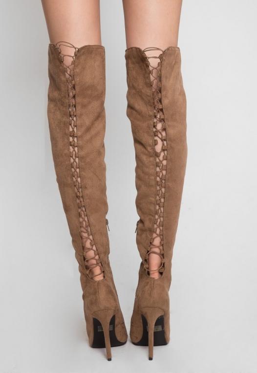 Joy Ride Open Toe Thigh High Boots alternate img #3
