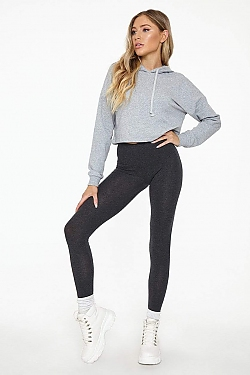 See Basic Cotton Leggings in Charcoal