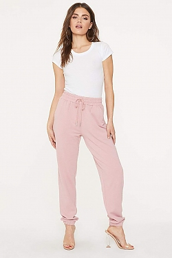 See Super Soft Relaxed Jogger in Dark Blush