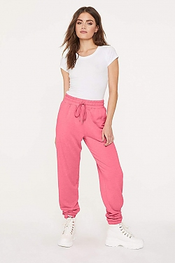 See Super Soft Relaxed Jogger in Neon Pink