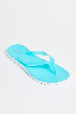 See Jelly Thong Sandal in Turquoise