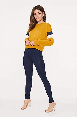 See Basic Cotton Leggings in Eclipse