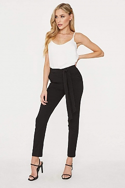 See Front Bow Pant in Black