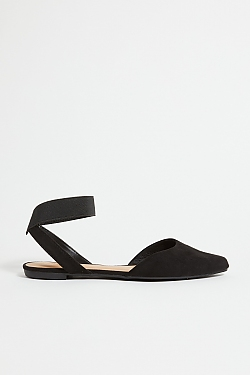 See Pointed Toe Flat in Black