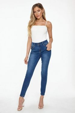 See Butt, I Love You! Classic Skinny Jean in Medium Denim