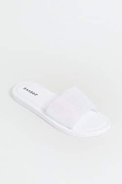 See Sparkle Slides in White
