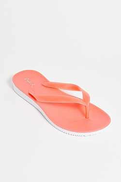 See Jelly Thong Sandal in Coral