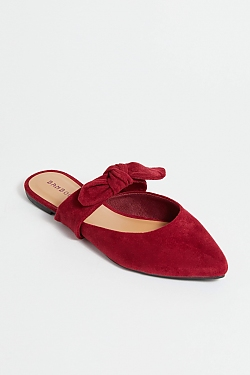 See Pointed Toe Flat in Burgundy