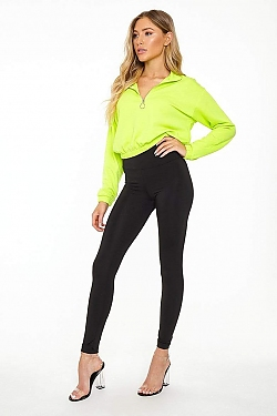 See Classic High Waisted Legging in Black
